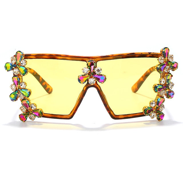 Oversized Colorful Rhinestone Sunglasses