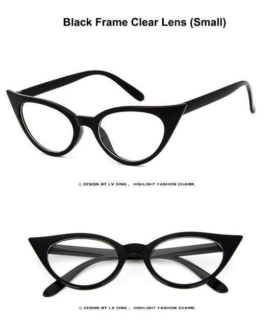 Marilyn Vintage Black Cat Eye Glasses