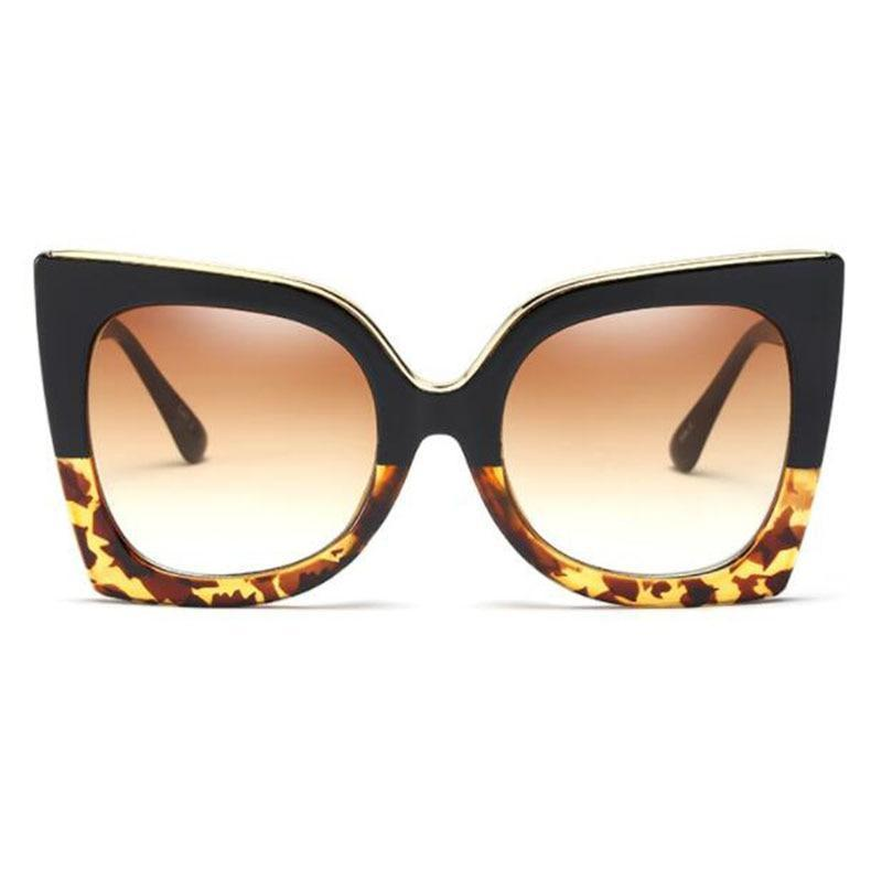 Fashion Women 2019 Brand Designer Metal Top Gradient Cat Eye Sunglasses UV400