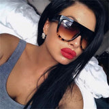 Women Vintage Flat Top Sunglasses