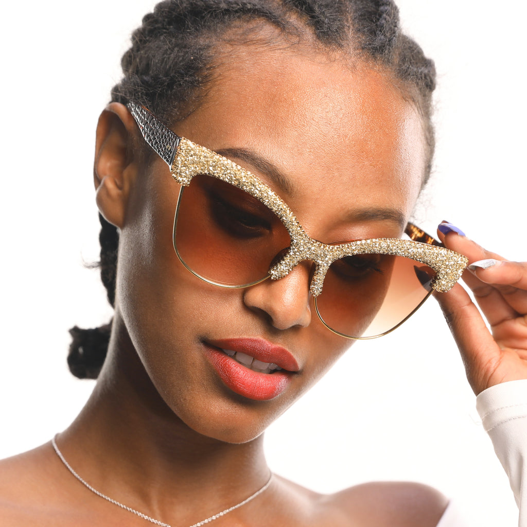 Vintage Oversized Luxury Cat Eye Sunglasses
