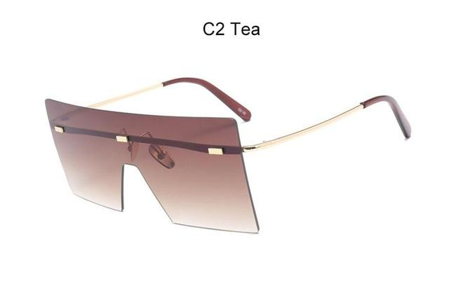 Women Oversized Brown Sunglasses