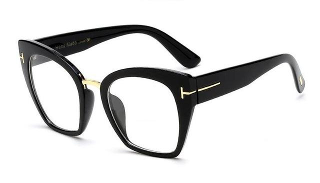 Fashion Rivet T Rectangle  Eyeglasses
