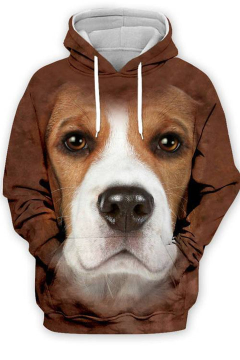 3D Graphic Hoodies  Animals Dogs Beagle