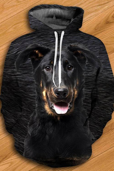 3D Graphic Hoodies  Animals Dogs Beauceron