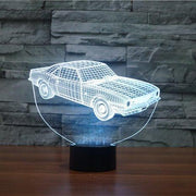 Old Muscle Car 3D Illusion Lamp