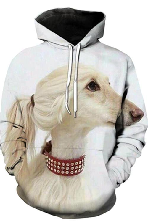3D Graphic Hoodies  Animals Dogs  Afghan dog