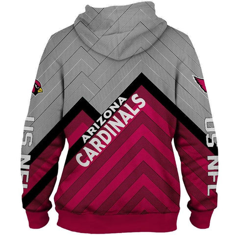 Arizona Cardinals 3D Printed Zipper Hoodie