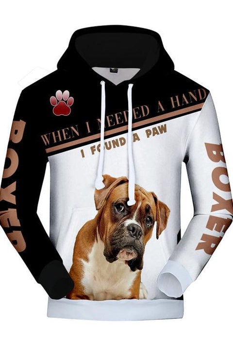 3D Graphic Hoodies  Animals Dogs Boxer