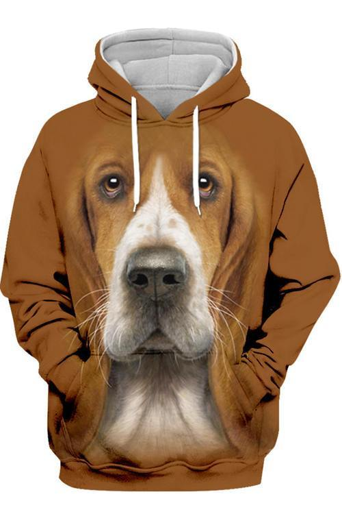 3D Graphic Hoodies  Animals Dogs Basset Hound Cool