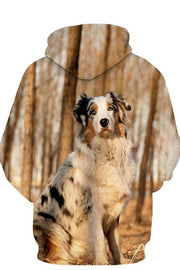 3D Graphic Hoodies Animals Dogs Meteorite Adult Australian Shepherd Dog