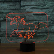 Unicorn 3D Illusion Lamp