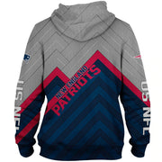 New England Patriots 3D Printed Zipper Hoodie