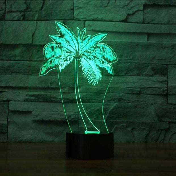 Palm Tree 3D Illusion Lamp