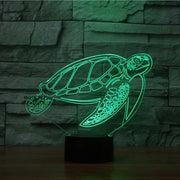 Turtle 3D Illusion Lamp