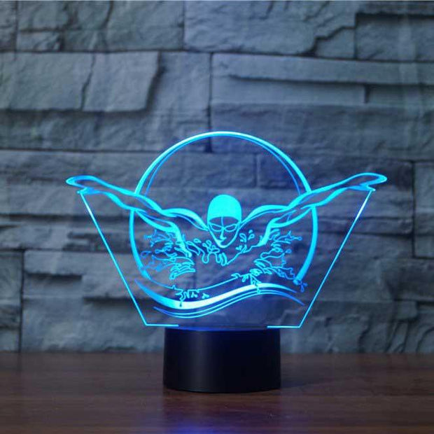 Swimming 3D Illusion Lamp