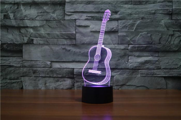 Guitar 3D Illusion Lamp