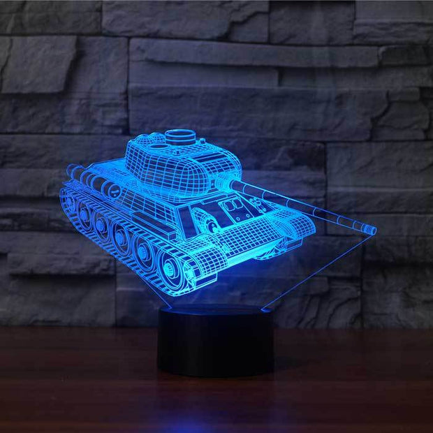 Tank 3D Illusion Lamp