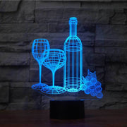 Wine 3D Illusion Lamp