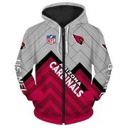 Arizona Cardinals 3D Printed Zipper Hoodie - diNeiLa