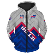 Buffalo Bills 3D Printed Zipper Hoodie - diNeiLa