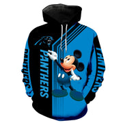 Carolina Panthers Mickey Hoodie 3D Sweatshirt Pullover - Douin