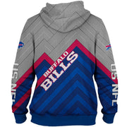 Buffalo Bills 3D Printed Zipper Hoodie
