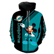 Miami Dolphins Mickey Hoodie 3D Sweatshirt Pullover - Nhuil