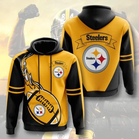 HhhknPittsburgh Steelers 3D Printed Hooded Pocket Pullover Hoodie