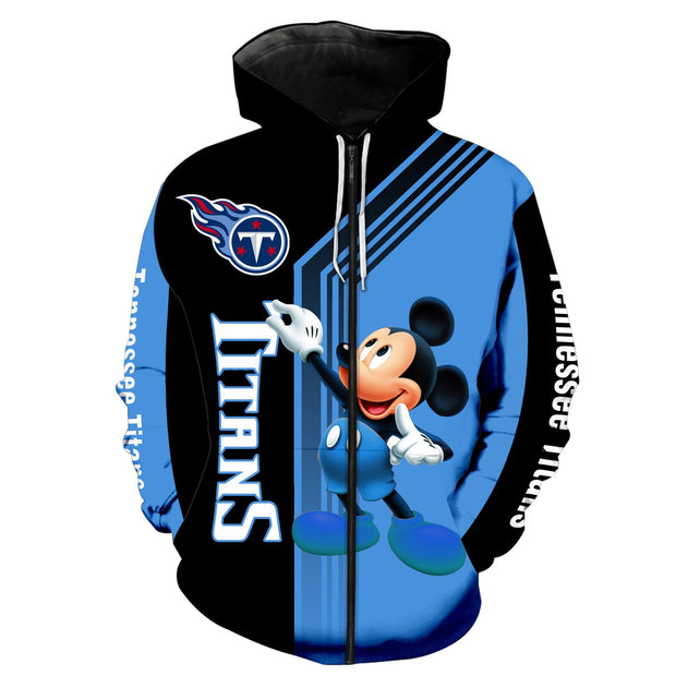 Tennessee Titans Mickey Hoodie 3D Sweatshirt Pullover - Nhuil