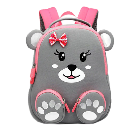 3D Grey Bear Bag
