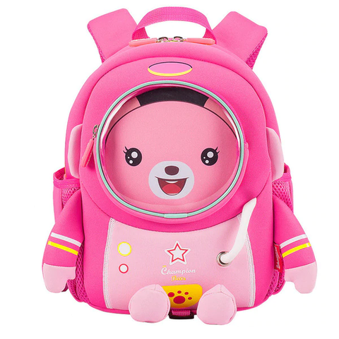 3D Pink Space Robot Bag