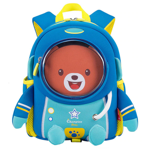 3D Blue Space Robot Bag