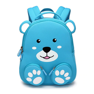3D Blue Bear Bag