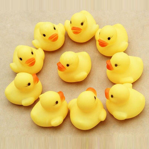 12PCS RUBBER DUCK WATER TOYS