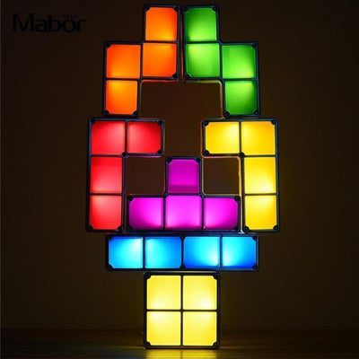 Tetris Block LED Lamp