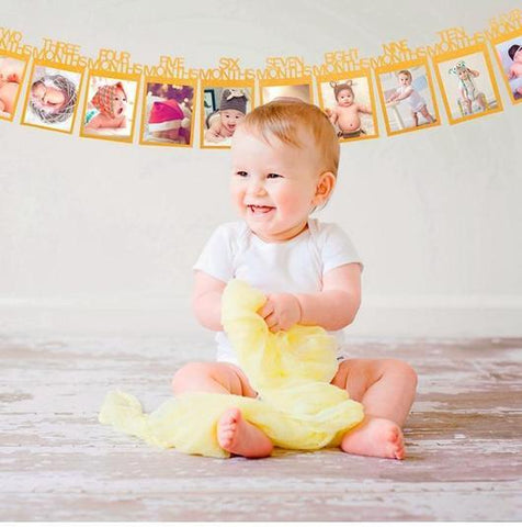 12 Month Baby Milestone Photo Banner