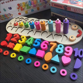 Wooden Learning To Count Numbers Matching Shape