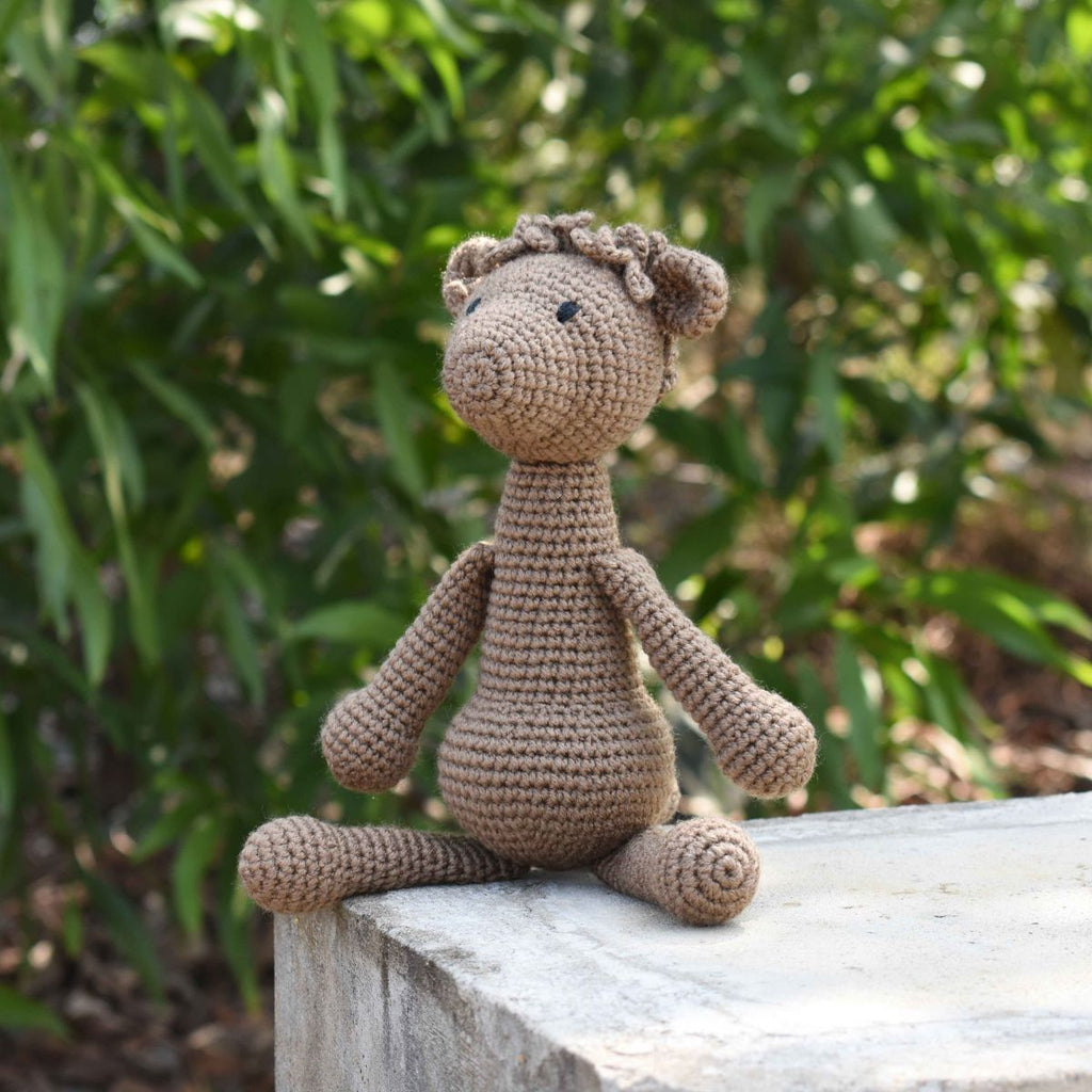 ALPACA Stuffed Crochet Animal - Llama - Baby Shower Gift - First Birthday Gift - SaiGonDoll