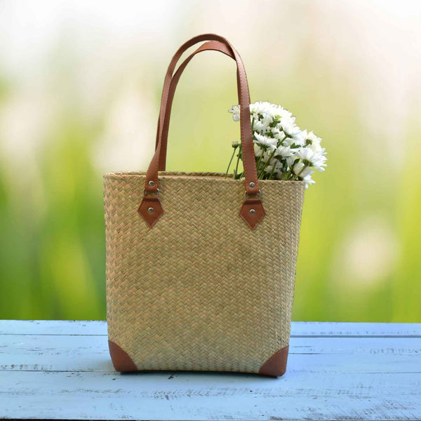 Natural Straw Bag, Simple Eco Bag, Summer Bag, Beach Handbag, Sedge  Weekend Bag - Saigonmade
