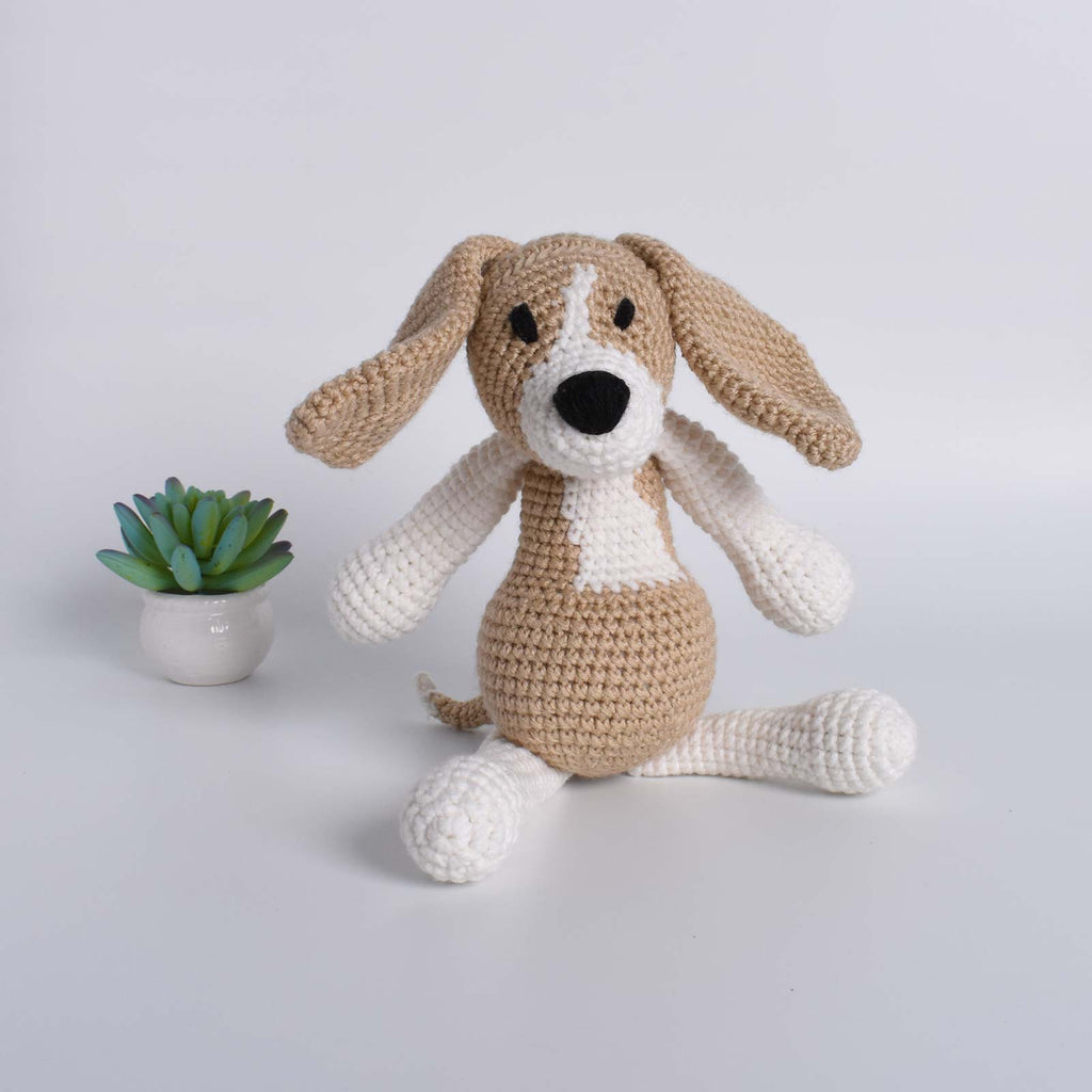 Beagle Dog Amigurumi Animal Crochet Stuffed Kid Plush Toy High Quality - SaiGonDoll