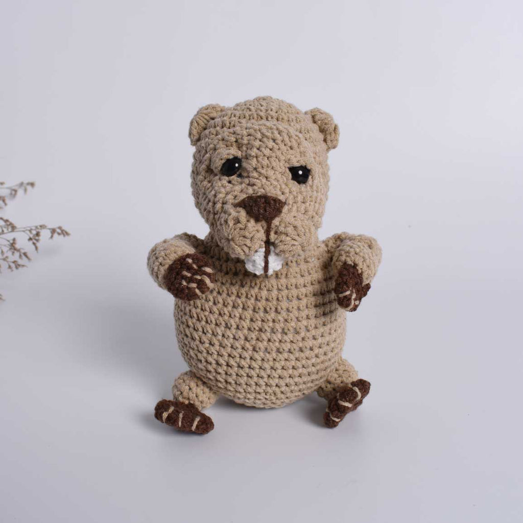 Handmade Crocheted, Beaver, Wildlife, Nursery Decor, Plush Toy, Stuffed Animal - SaiGonDoll