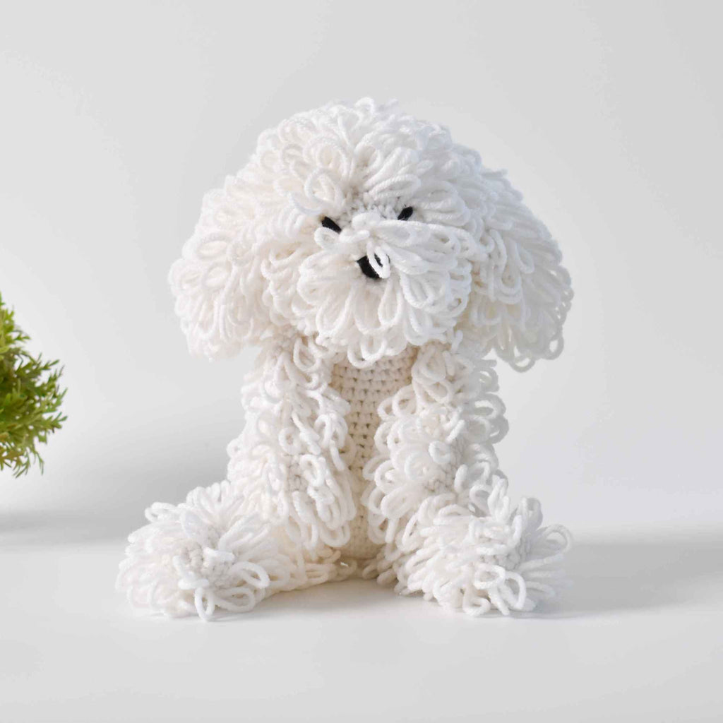 Cute Dog Amigurumi Crochet Bichon Frise Handmade Stuffed Dog Baby Toy - SaiGonDoll