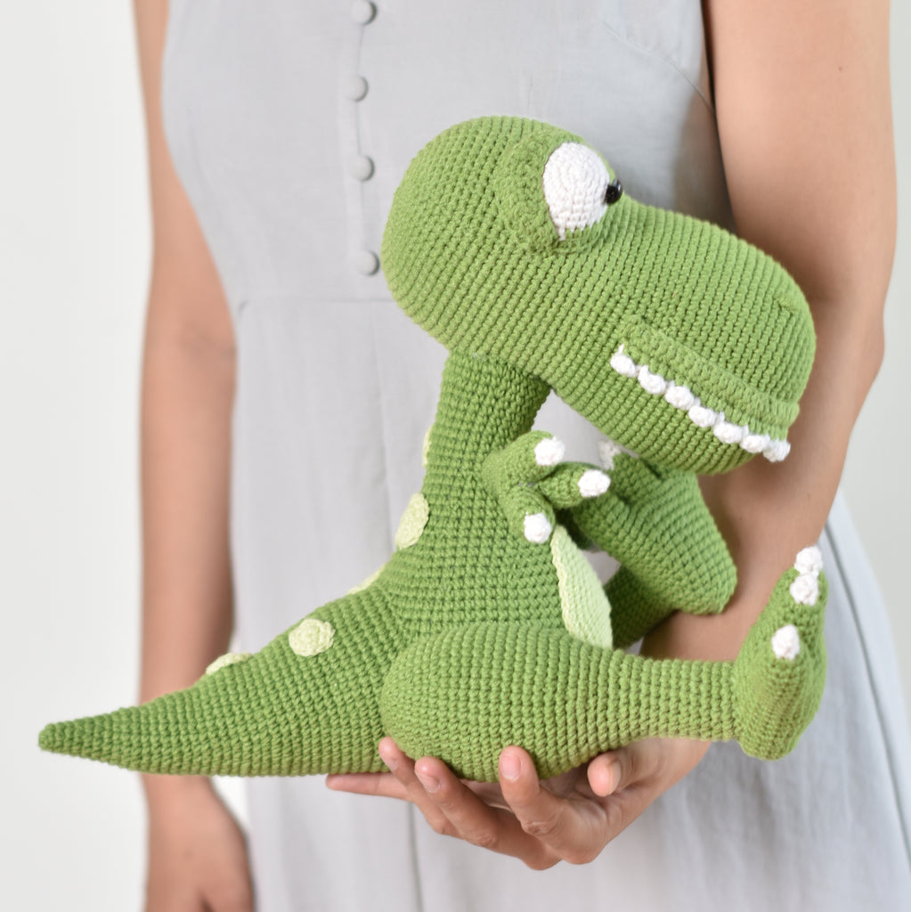 Big T- Rex Dinosaur, Baby Shower Gift, Soft Animal Toy, Amigurumi Dinosaur Toy - SaiGonDoll