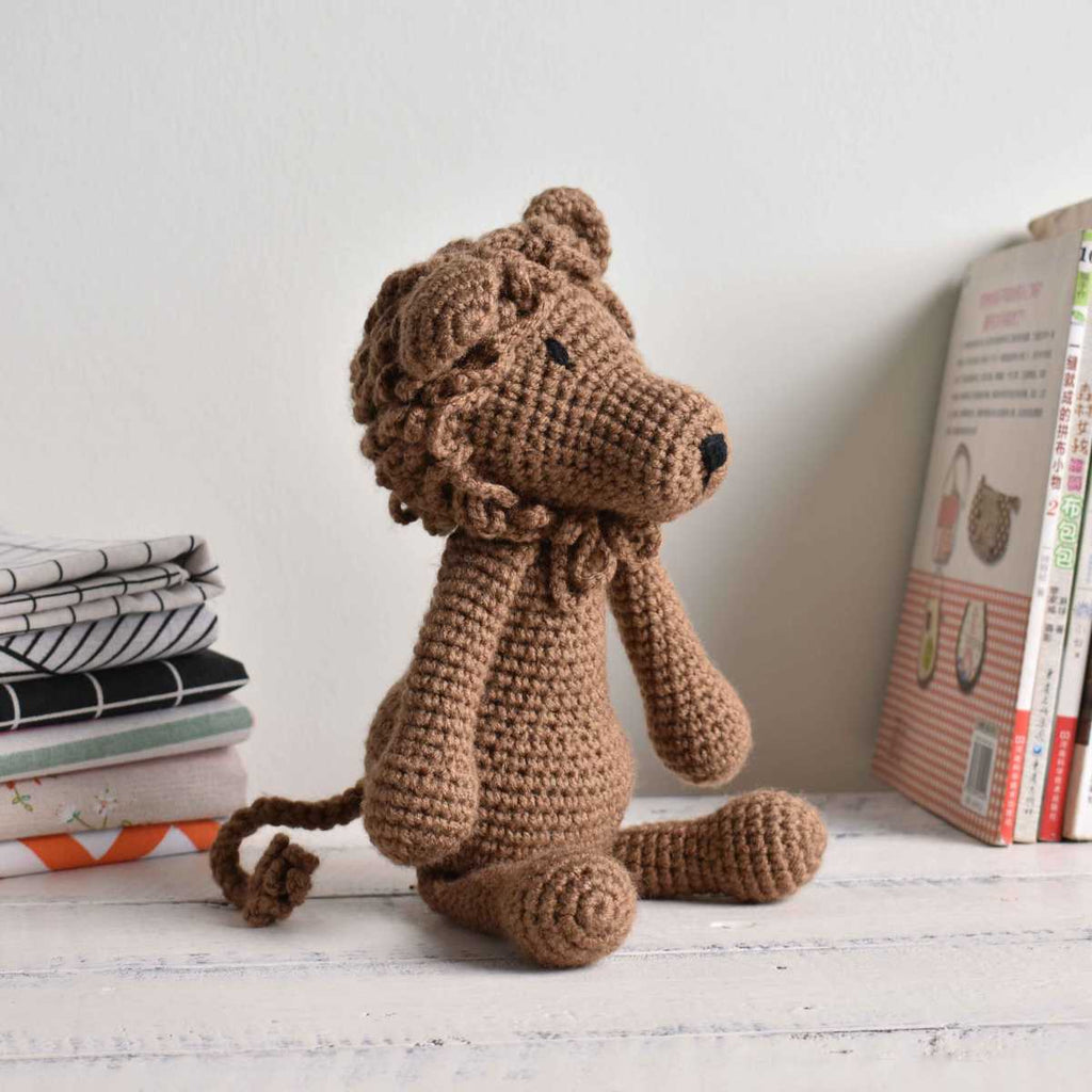 Brown Lion, Crochet Animal, Stuffed Lion, Plush Toy,Baby Shower & 1st Birth Gift - SaiGonDoll