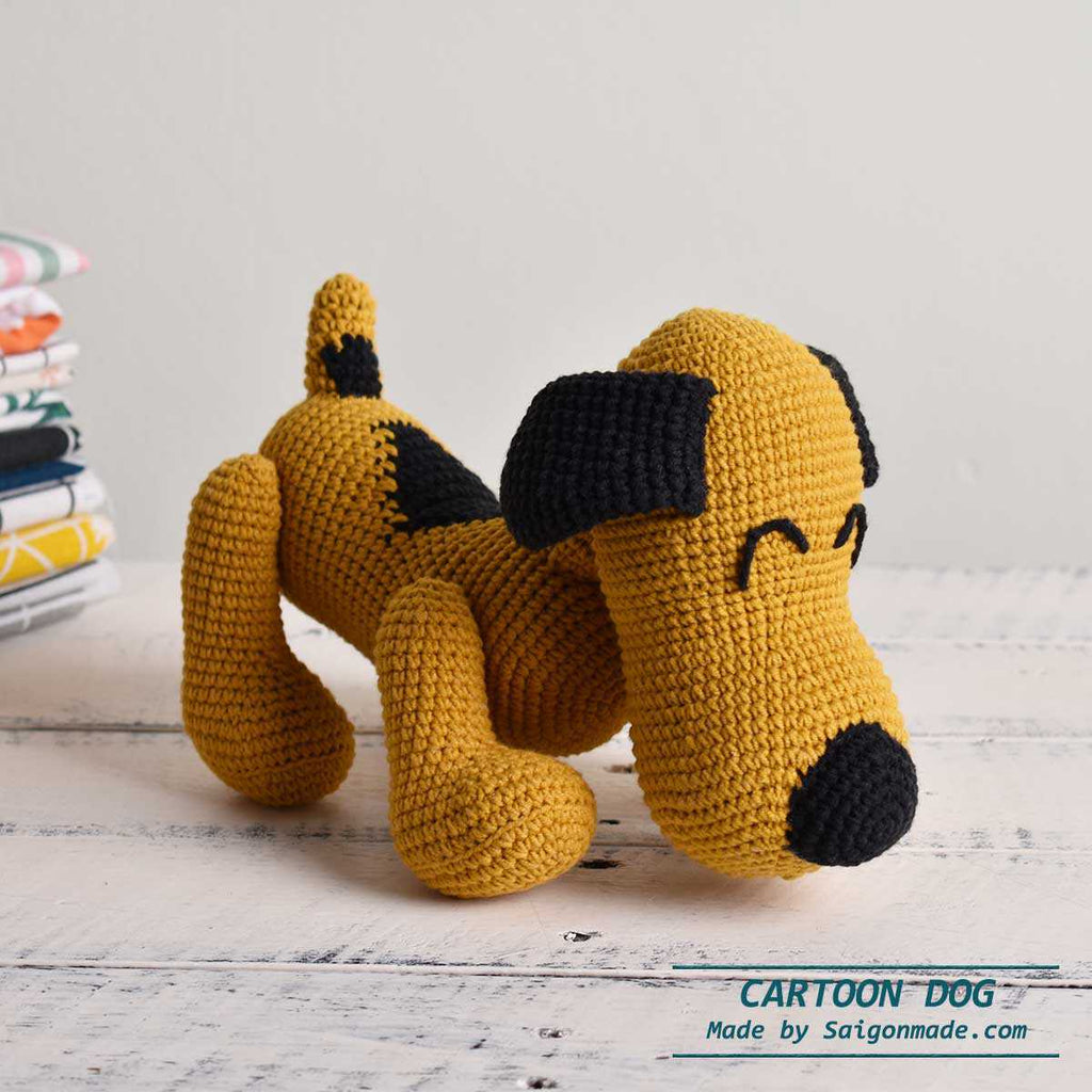 Amigurumi Dog, Lovely Cartoon Dog, Crochet Dog, Plush Stuffed Toy, Handmade Gift - Saigonmade