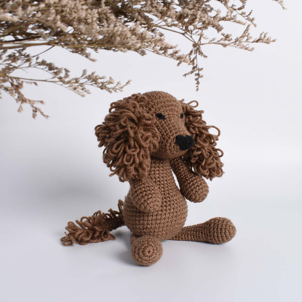 Cocker Spaniel Amigurumi Animal Crochet Stuffed Dog Kid Plush Toy High Quality - SaiGonDoll
