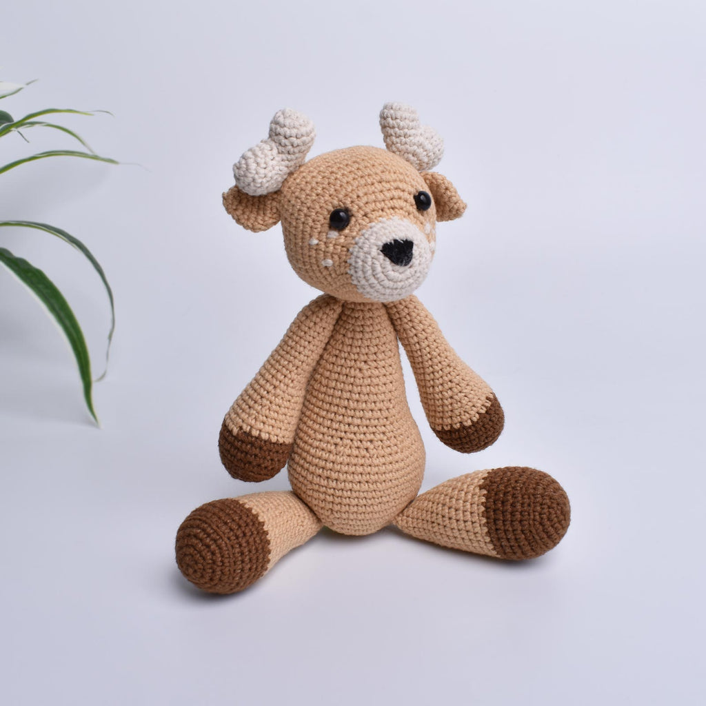 Deer Crochet Animal Handmade Amigurumi Stuffed Toy Doll High Quality - SaiGonDoll