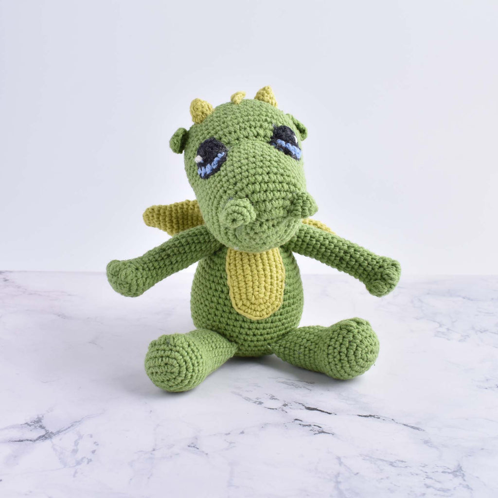 Cute Dragon Kid Plush Toy Handmade Crochet Stuffed Animal Amigurumi High Quality - SaiGonDoll