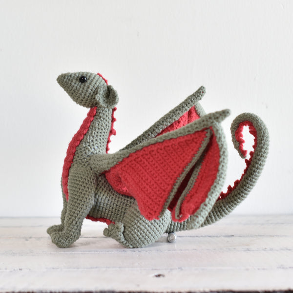 Dragon Stuffed Animal, Stuffed Dragon, Crochet Toy, Crochet Dragon Handmade Gift - SaiGonDoll